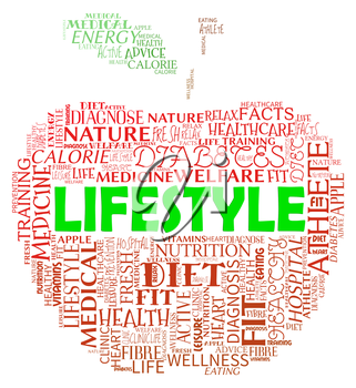 Lifestyle Apple Showing Life Choice And Living
