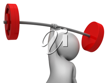 Weight Lifting Meaning Physical Activity And Health 3d Rendering