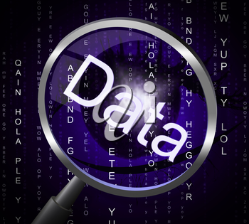 Data Magnifier Meaning Information Search And Bytes