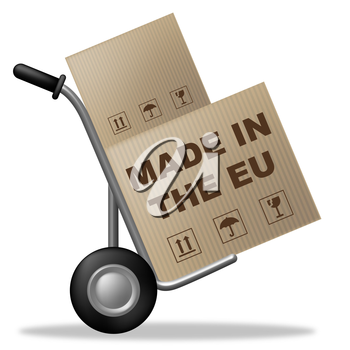 Made In Eu Indicating Shipping Box And Industrial