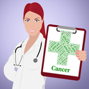 Cancer Word Showing Poor Health And Tumors
