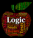 Logic Word Indicating Work Out And Logically