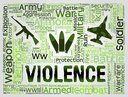 Violence Words Representing Brute Force And Brutality