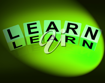 Learn Dice Showing Education Studying and Learning
