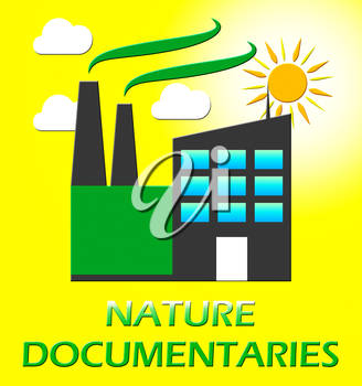 Nature Documentary Factory Represents Environment Video 3d Illustration