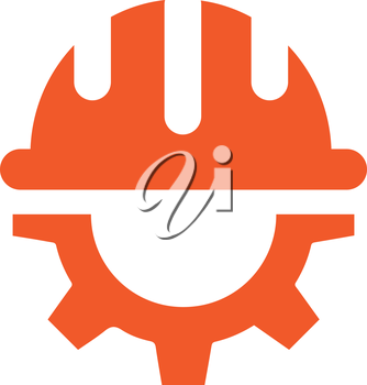 Gear with Helmet icon design. AI 10 supported.