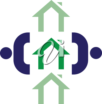 Family Icon Design With Home, AI 8 supported.