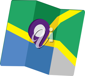 3D Pin Icon Set with Map, EPS 10 supported.