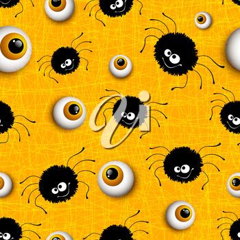 Halloween seamless pattern background. Vector illustration EPS 10