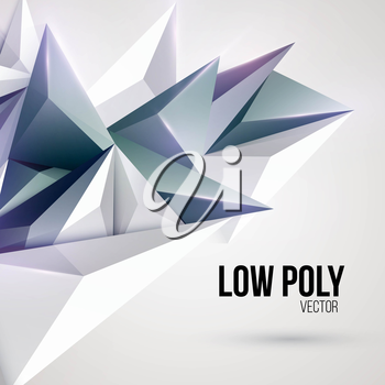 Low poly triangular background. Vector illustration EPS 10