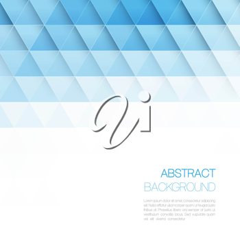 Abstract vector background with triangles. Template brochure design.