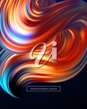 3d Abstract colorful fluid design. Vector illustration EPS10