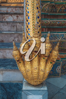 BANGKOK - February 7 2016: Grand palace bangkok, THAILLAND.  Details of Wat Phra Kaew, Temple of the Emerald Buddha, Bangkok, Thailand.