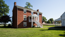 Rear view of McLean House where Ulysses S Grant accepted surrender of Southern Army under General Robert E Lee in Appomattox, Virginia, USA