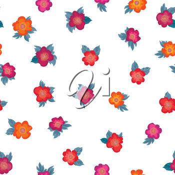 Floral seamless pattern. Flower background. Floral ornamental texture with flowers. Flourish tiled wallpaper