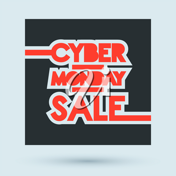 Cyber Monday Sale design poster. Vector illustration.