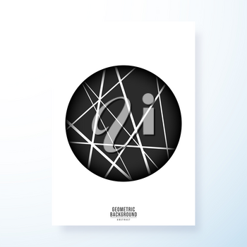 Minimal geometric design for cover, printing products, flyer, presentation, brochure or wall decor. Vector illustration.